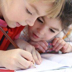 Girls writing