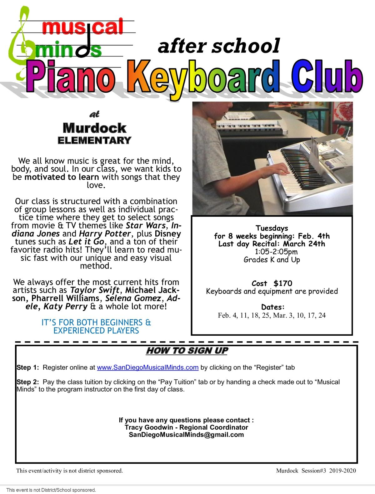 Musical Minds Club Flyer