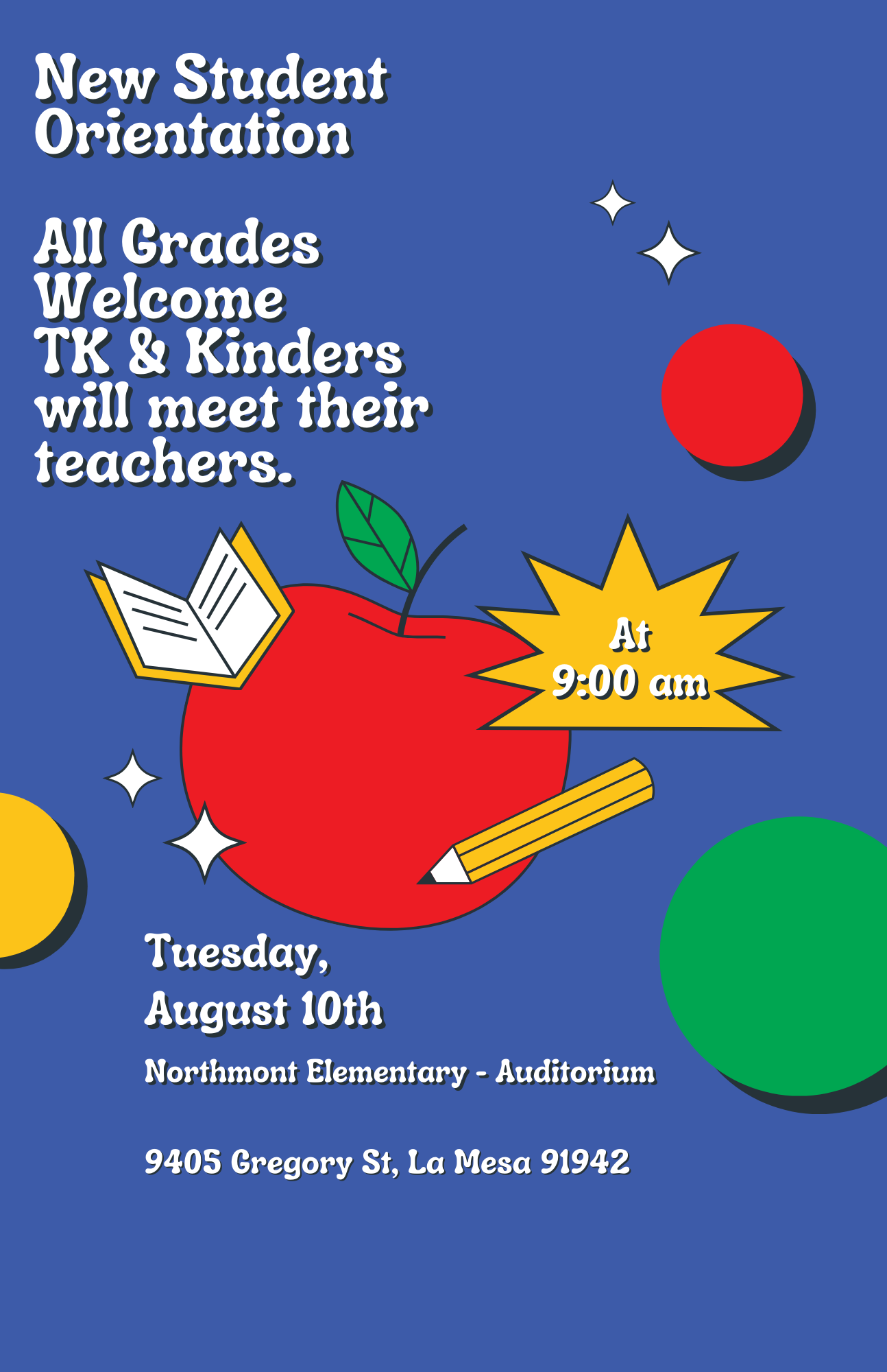 New Student Orientation Flyer